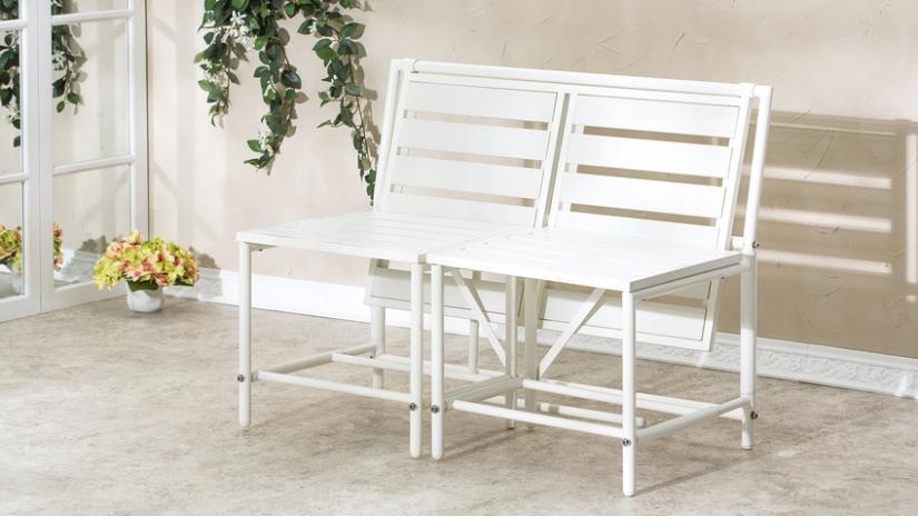 biała ławka do przedpokoju