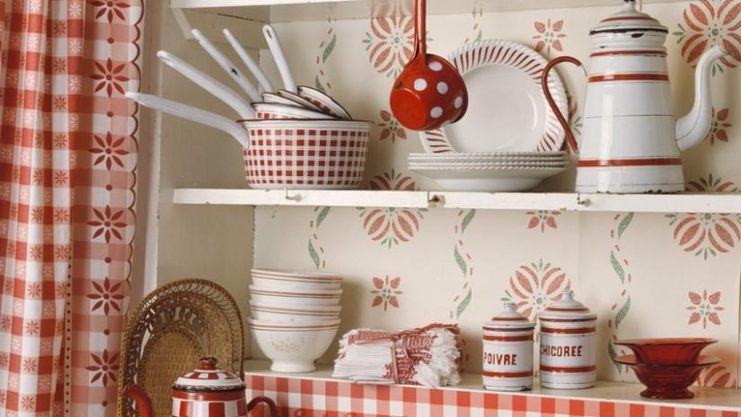 kuchnia w stylu wiejskim kolory
