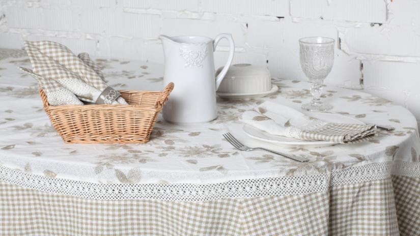 kuchnia w stylu wiejskim tekstylia