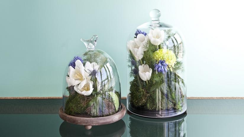 stojak na kwiaty szklany