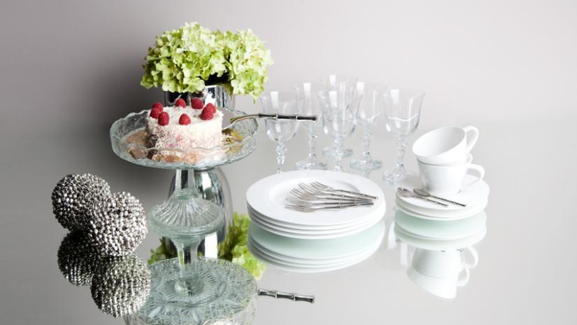 talerzyki do ciasta białe