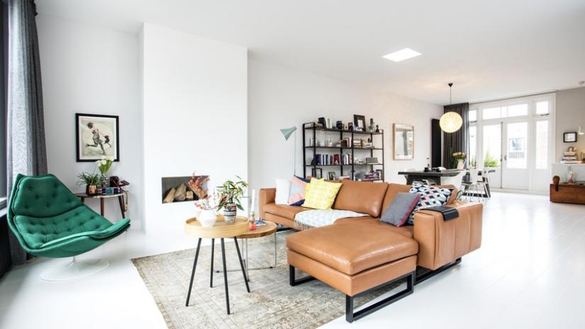 sofa w stylu skandynawskim skórzana