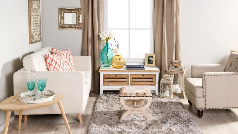 sofa w stylu skandynawskim tapicerowana