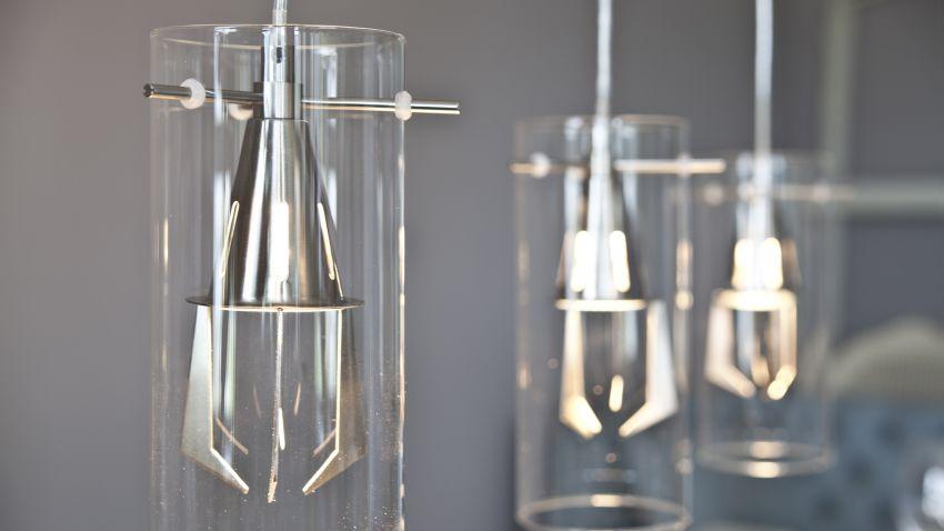 Lampy z kryształkami