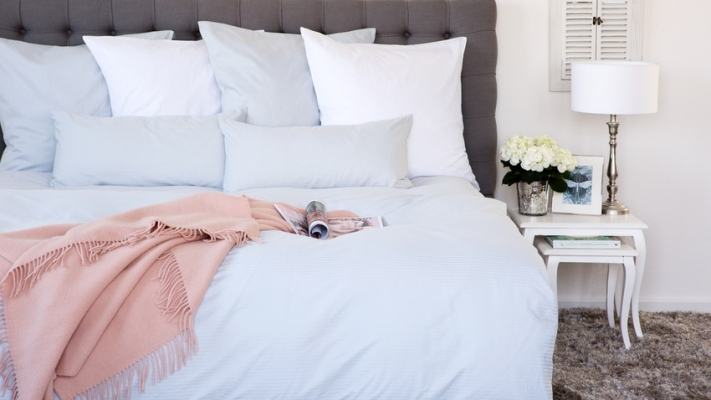 Sypialnia w kolorze niebieskim