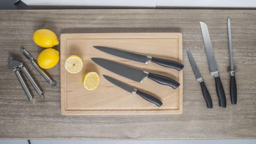 noże kuchenne tytanowe zestaw