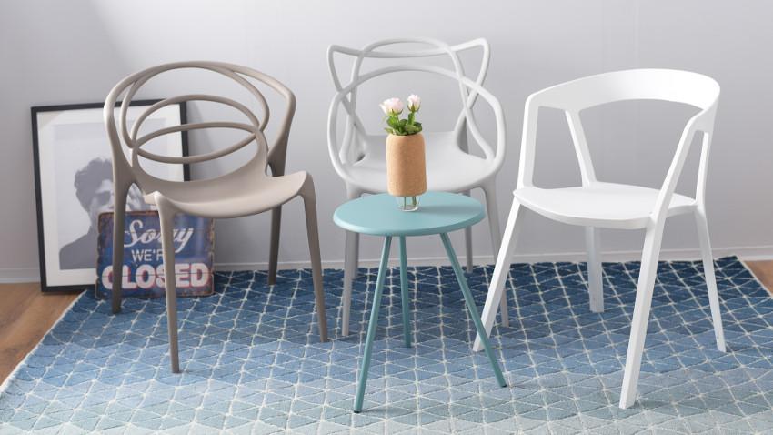 Krzesła kuchenne z podłokietnikiem