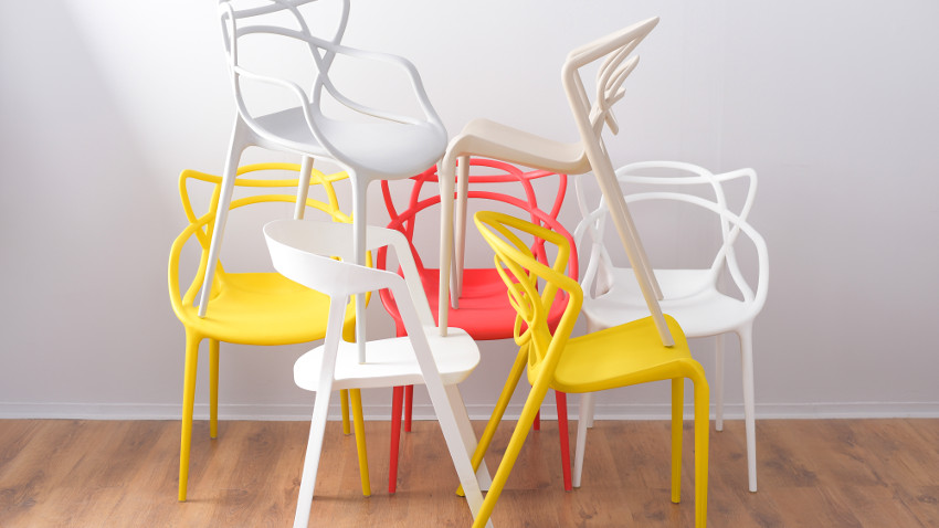 Krzesła skórzane czerwone