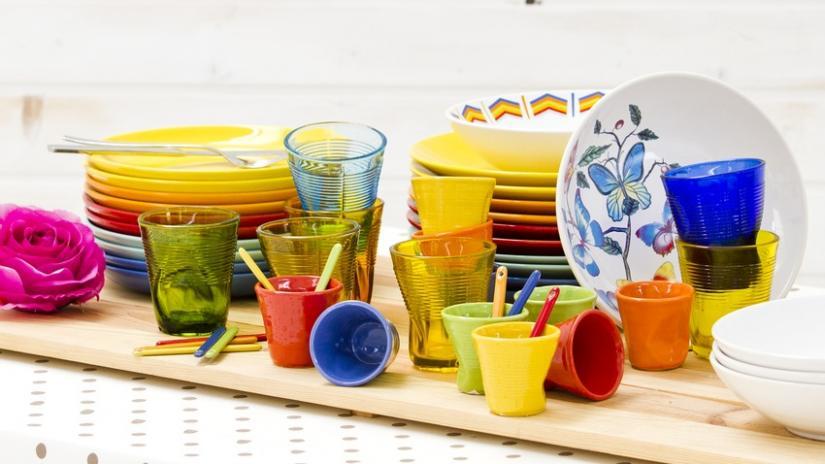 kolorowa zastawa stołowa 12 osób