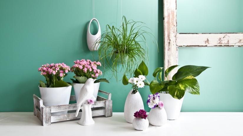 sztuczne kwiaty doniczkowe aranżacje