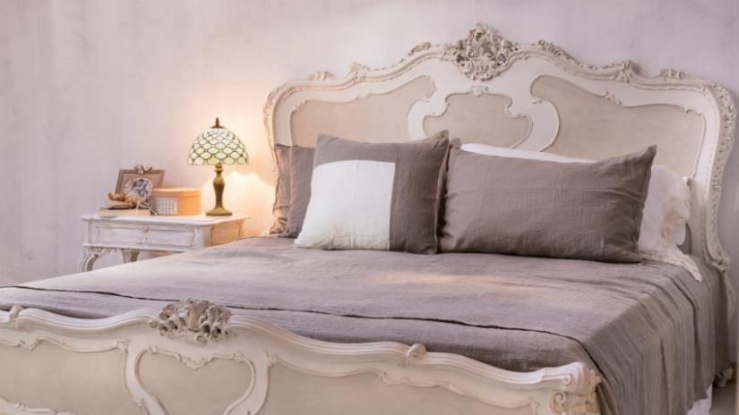 dekoracje do sypialni w stylu shabby chic