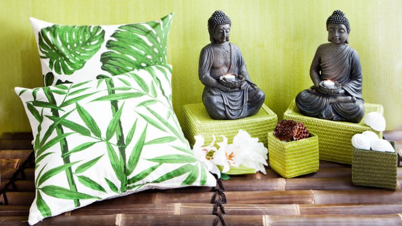 zielony salon dekoracje