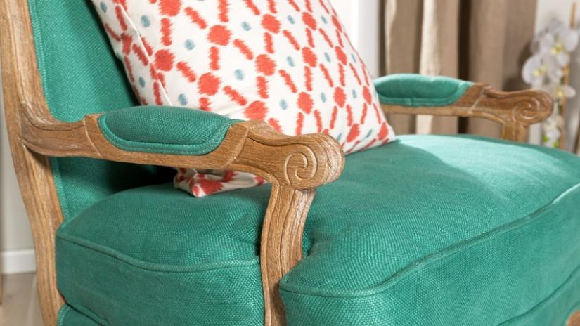 zielony salon meble