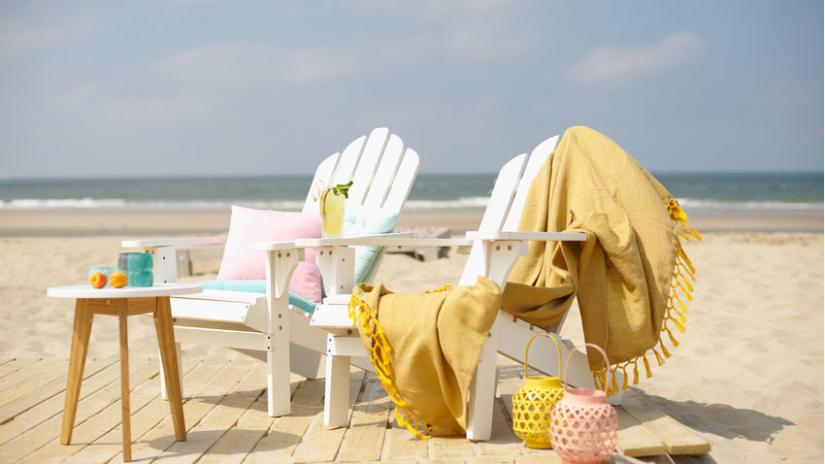 krzesło plażowe białe