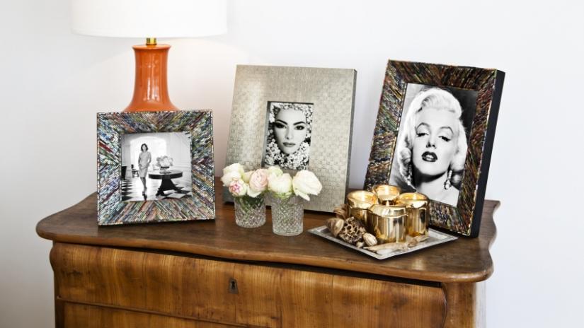 półka na zdjęcia drewniana