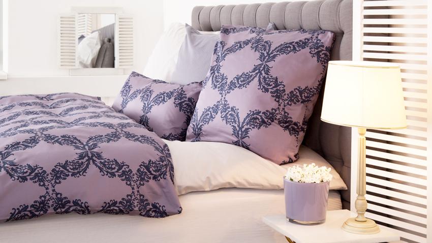 Fioletowe poduszki
