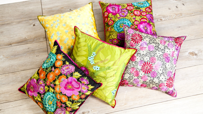 Poduszki w kwiaty