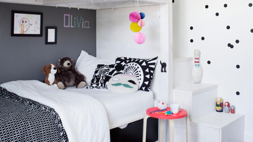 Pok j dzieci cy w stylu skandynawskim zdj cia i inspiracje - Habitaciones juveniles blancas ...
