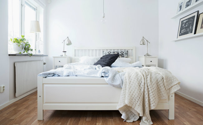 Biala sypialnia
