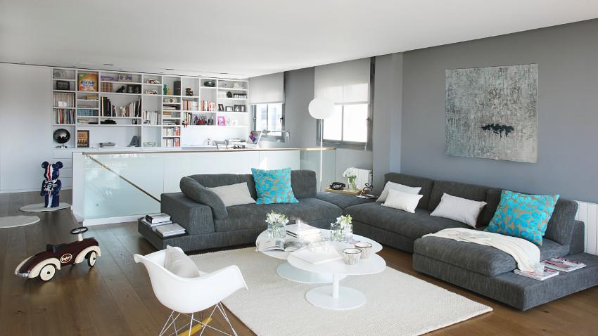szary salon pomys y na dodatki w 6 kolorach. Black Bedroom Furniture Sets. Home Design Ideas