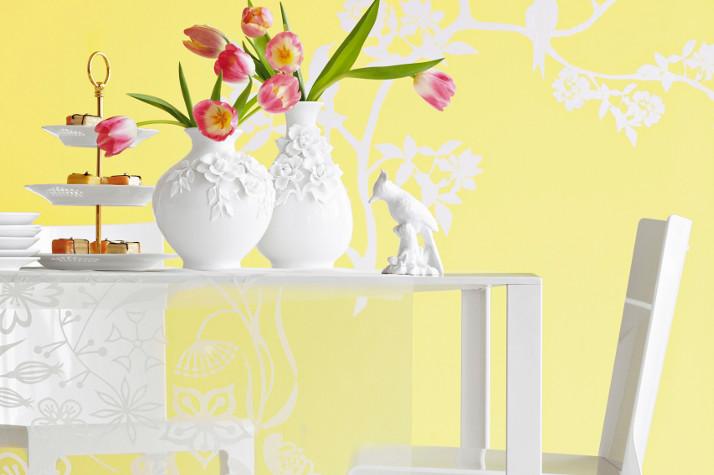 Żółta kuchnia w delikatnym, pastelowym odcieniu