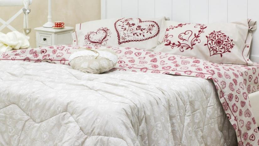 sypialnia w stylu rustykalnym materiały