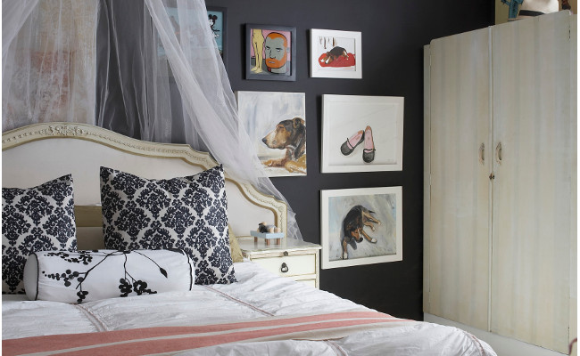 Nowoczesna sypialnia w stylu rustykalnym