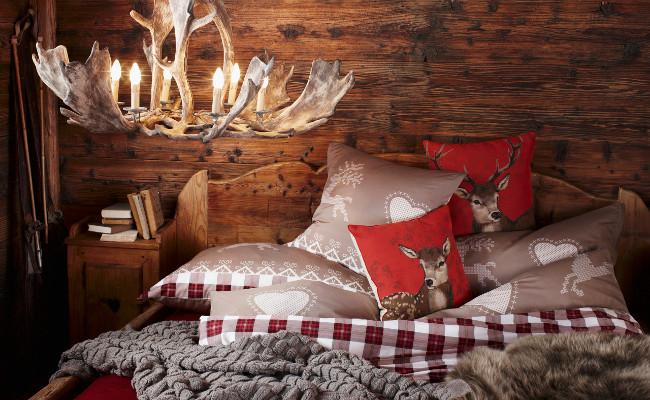 Sypialnia w stylu rustykalnym w drewnie