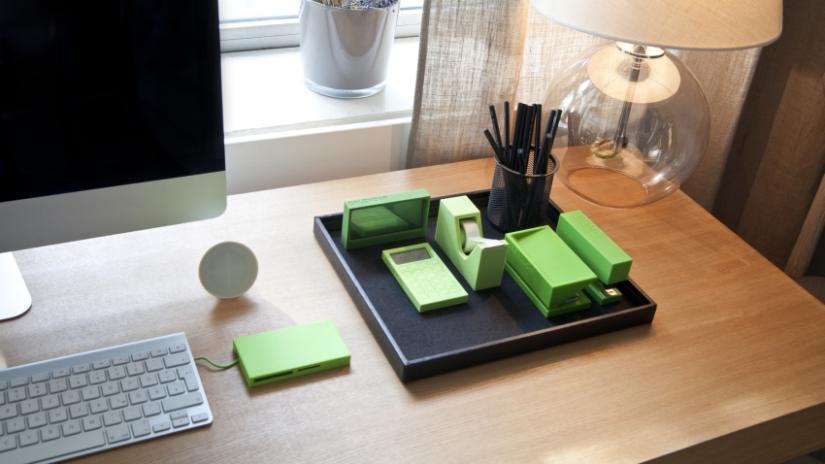 ozdoby na biurko zielone