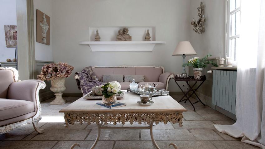 salon w stylu shabby chic modne aran acje westwing polska. Black Bedroom Furniture Sets. Home Design Ideas