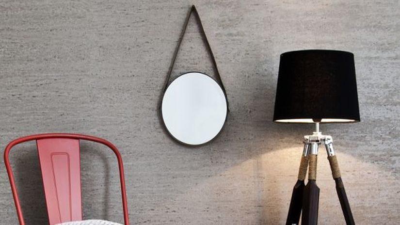 Štýlové okrúhle zrkadlo na stenu