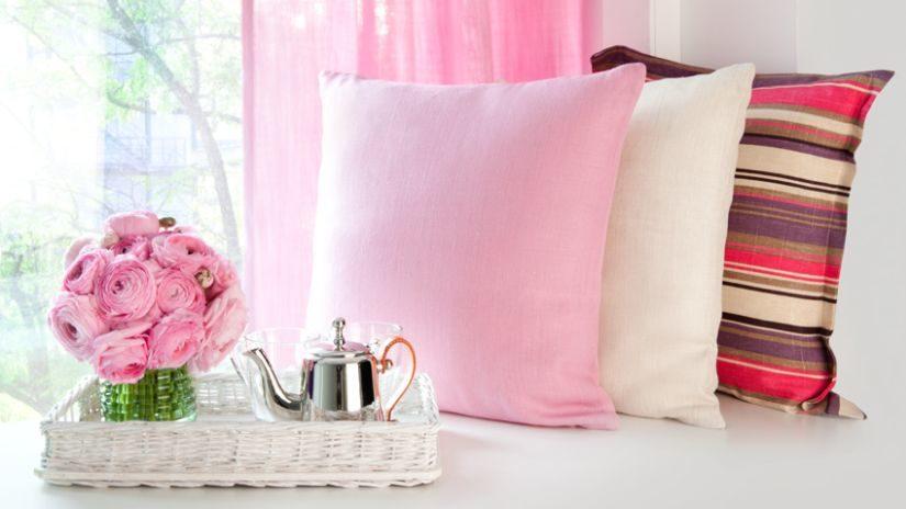 Jemné ružové detské záclony
