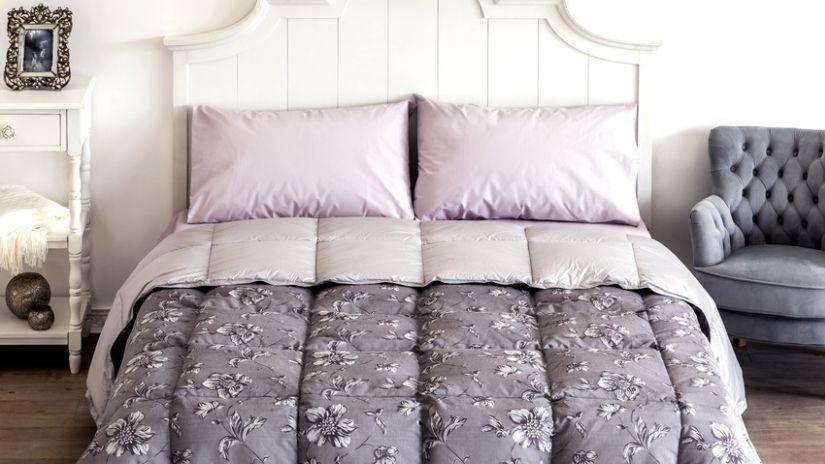 Kvalitné sivo-ružové obliečky