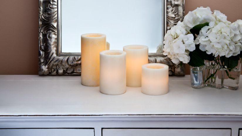 Pastelové LED sviečky
