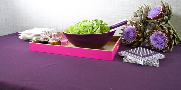 Trendy fialová drevená miska