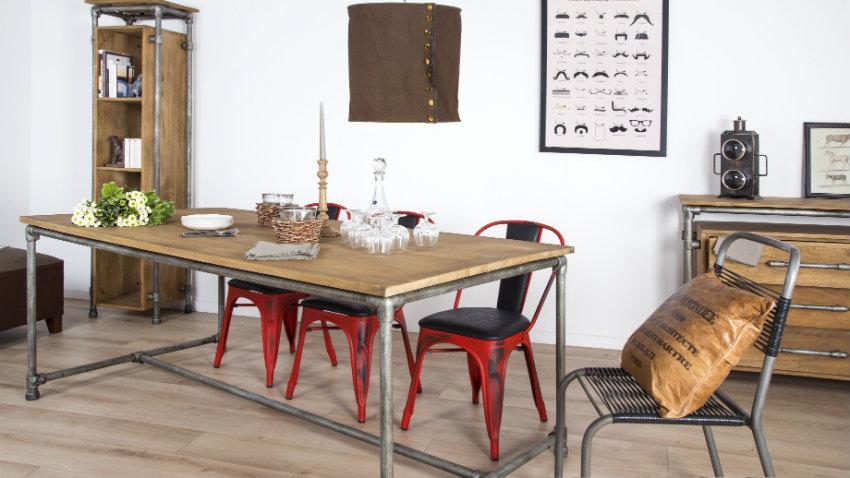 Kovové retro stoličky