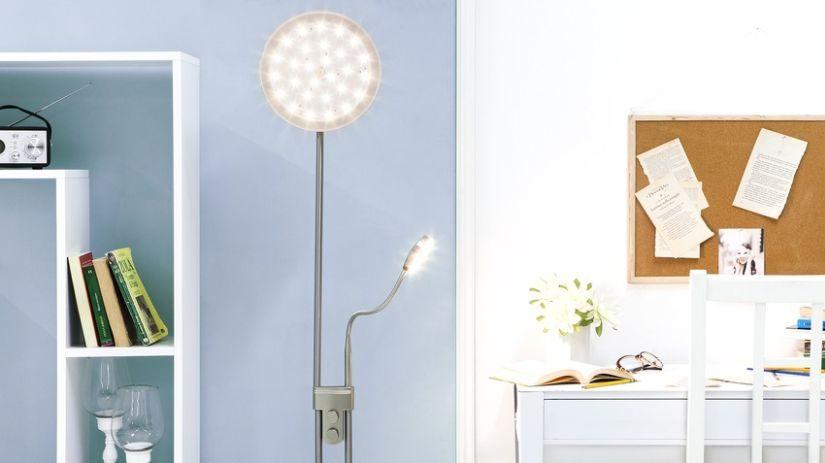 Moderná stojaca lampa