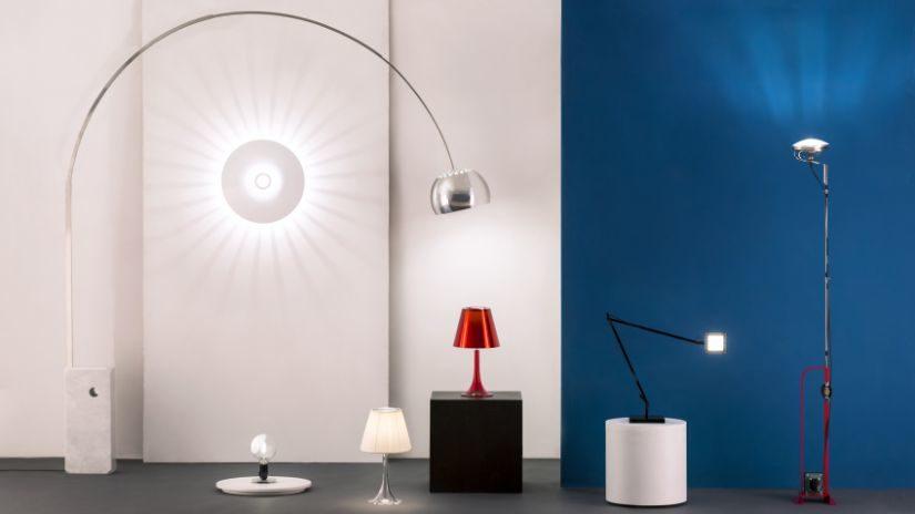 Dizajnová stojaca lampa