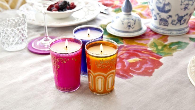 Vonné sviečky v boho štýle