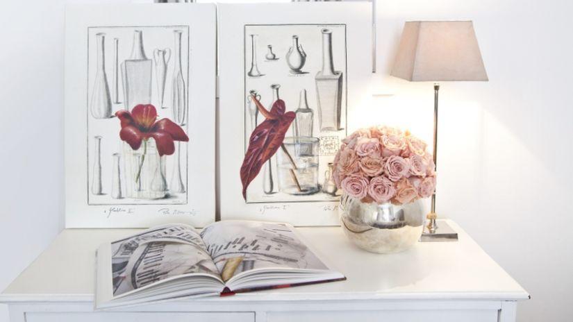 Romantické ružové tienidlo na lampu