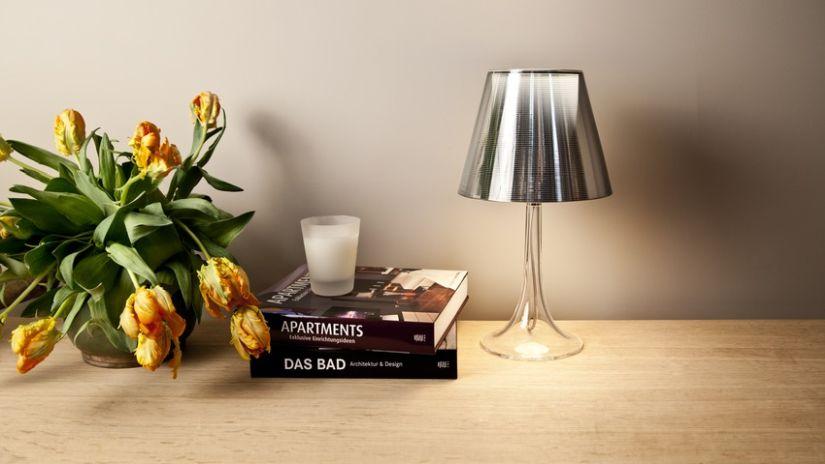 Dizajnové strieborné tienidlo na lampu