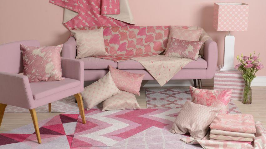 Ružový koberec vo vintage štýle