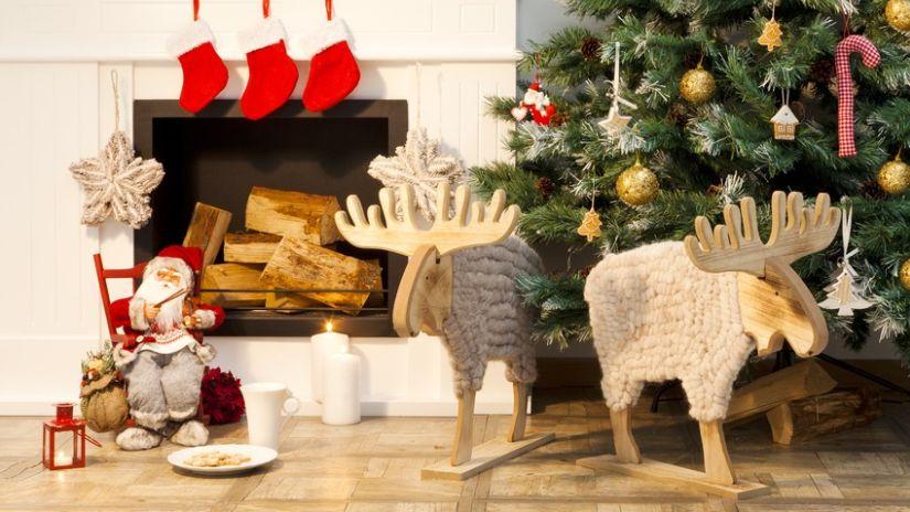Štýlové vianočné dekorácie z dreva