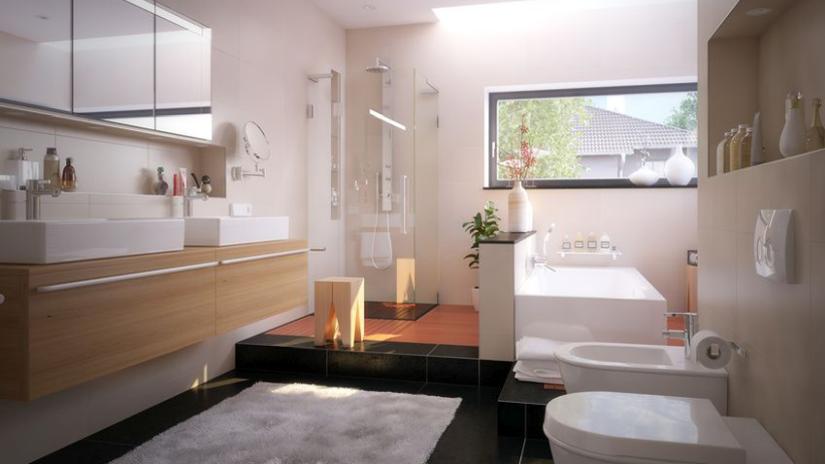 Skriňa so zrkadlom do kúpeľne