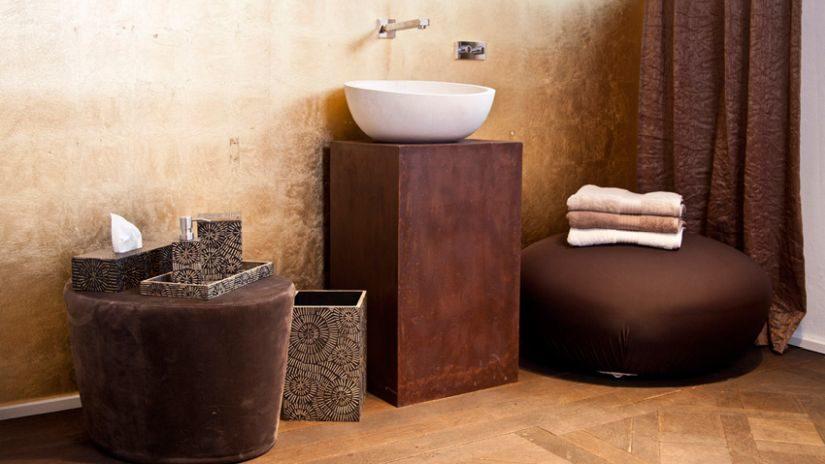 Trendy hnedé dekorácie do kúpeľne