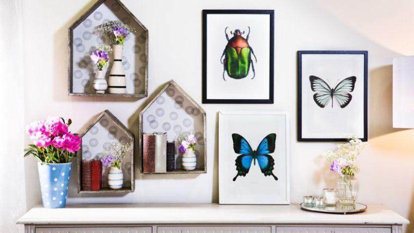 Moderné nástenné dekorácie do obývačky