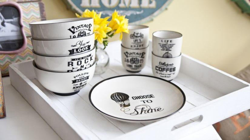 Keramické misky vo vintage štýle