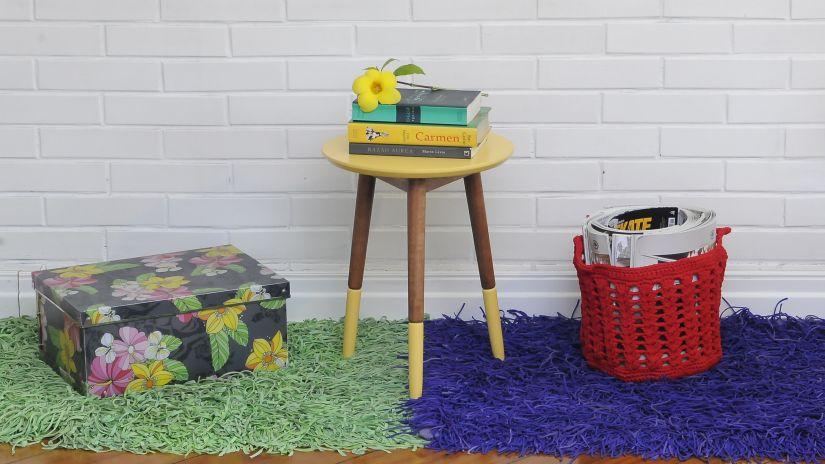 Zelený retro koberec