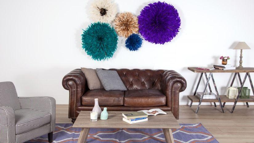 Fialový koberec v retro štýle