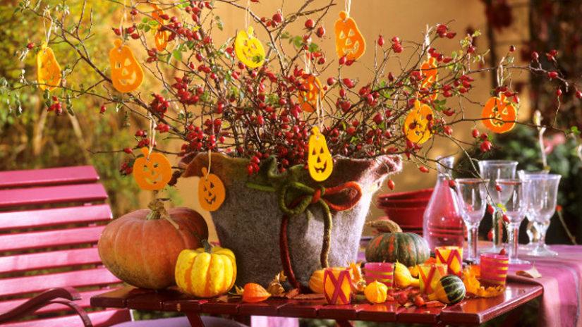 Jesenná látková dekorácia na stôl